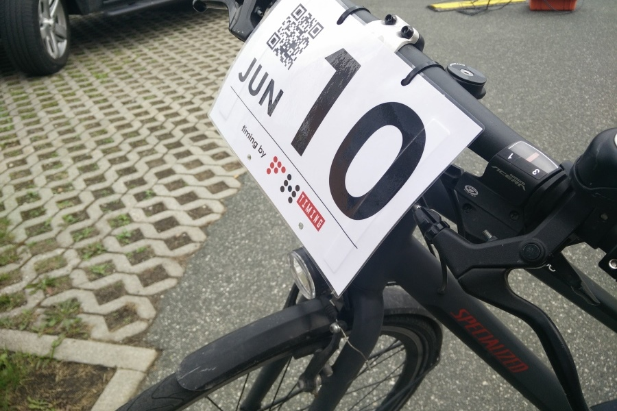Customizable bike start number